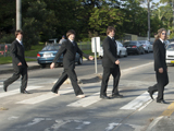 3Bs tribute band Beatles photo with the Abbey Road theme